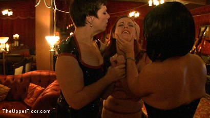 Photo number 6 from Saint Patrick's Day shot for The Upper Floor on Kink.com. Featuring Iona Grace, Lilla Katt and Nicki Blue in hardcore BDSM & Fetish porn.
