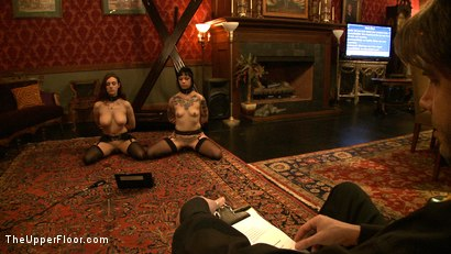 Photo number 3 from Service Day shot for The Upper Floor on Kink.com. Featuring Iona Grace, Sparky Sin Claire and Sophie Monroe in hardcore BDSM & Fetish porn.