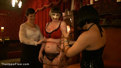 Photo number 15 from Stefanos' Brunch shot for The Upper Floor on Kink.com. Featuring Maestro Stefanos, Nerine Mechanique, Jessie Cox, Nicki Blue and Iona Grace in hardcore BDSM & Fetish porn.
