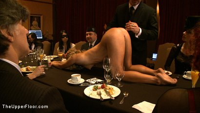 Photo number 18 from Stefanos' Brunch shot for The Upper Floor on Kink.com. Featuring Maestro Stefanos, Nerine Mechanique, Jessie Cox, Nicki Blue and Iona Grace in hardcore BDSM & Fetish porn.
