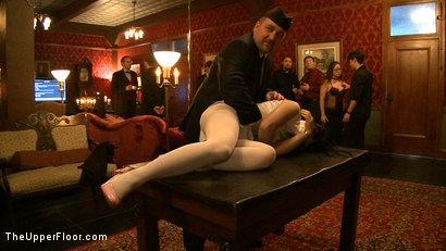 Photo number 8 from Stefanos' Brunch shot for The Upper Floor on Kink.com. Featuring Maestro Stefanos, Nerine Mechanique, Jessie Cox, Nicki Blue and Iona Grace in hardcore BDSM & Fetish porn.