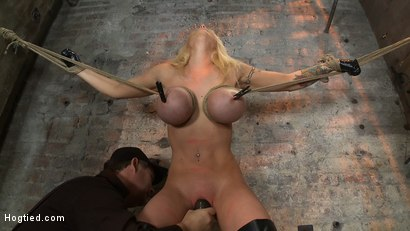 Photo number 11 from California Blond has her massive tits severly bound   We rip Orgasm after Orgasm out of her hot bod shot for Hogtied on Kink.com. Featuring Candy Manson in hardcore BDSM & Fetish porn.