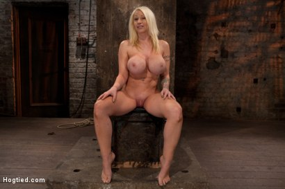Photo number 1 from California blond with huge tits has them bound to her knees & spread<br>Made to squirt & scream! shot for Hogtied on Kink.com. Featuring Candy Manson in hardcore BDSM & Fetish porn.