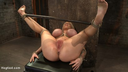 Photo number 12 from California blond with huge tits has them bound to her knees & spread<br>Made to squirt & scream! shot for Hogtied on Kink.com. Featuring Candy Manson in hardcore BDSM & Fetish porn.