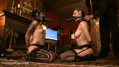 Photo number 12 from Service Day: Slaves get some cock shot for The Upper Floor on Kink.com. Featuring Iona Grace, Sparky Sin Claire and Maestro in hardcore BDSM & Fetish porn.