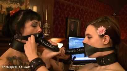 Photo number 14 from Service Day: Slaves get some cock shot for The Upper Floor on Kink.com. Featuring Iona Grace, Sparky Sin Claire and Maestro in hardcore BDSM & Fetish porn.