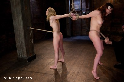 Photo number 12 from kitten and taters Final Day<br>LIVE March Shoot shot for The Training Of O on Kink.com. Featuring Lilla Katt and Nicki Blue in hardcore BDSM & Fetish porn.