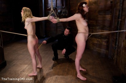 Photo number 3 from kitten and taters Final Day<br>LIVE March Shoot shot for The Training Of O on Kink.com. Featuring Lilla Katt and Nicki Blue in hardcore BDSM & Fetish porn.