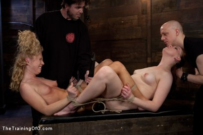 Photo number 7 from Day 4 - kitten and taters<br>Sexual Training for the Trainees shot for The Training Of O on Kink.com. Featuring Lilla Katt, Nicki Blue and Mister Torn in hardcore BDSM & Fetish porn.