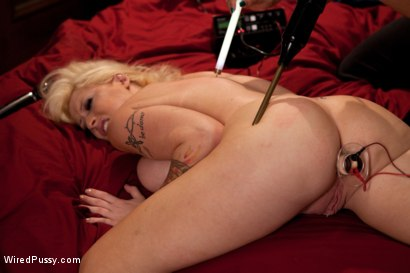 Photo number 6 from Big Tits, Blonde Hair Double Penetrated with Electricity shot for Wired Pussy on Kink.com. Featuring Candy Manson and Isis Love in hardcore BDSM & Fetish porn.