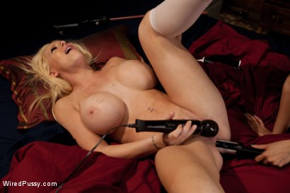 Photo number 13 from Big Tits, Blonde Hair Double Penetrated with Electricity shot for Wired Pussy on Kink.com. Featuring Candy Manson and Isis Love in hardcore BDSM & Fetish porn.