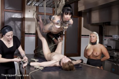 Photo number 8 from Kitchen Service shot for The Upper Floor on Kink.com. Featuring Sparky Sin Claire, Kait Snow, Jessie Cox and Jack Hammer in hardcore BDSM & Fetish porn.