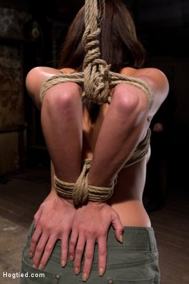Photo number 3 from Girl next door is overwhelmed from the orgasms we rip from her helpless body<br>Brutal rope Bondage! shot for Hogtied on Kink.com. Featuring Chanel Preston in hardcore BDSM & Fetish porn.