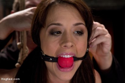 Photo number 7 from Girl next door is overwhelmed from the orgasms we rip from her helpless body<br>Brutal rope Bondage! shot for Hogtied on Kink.com. Featuring Chanel Preston in hardcore BDSM & Fetish porn.