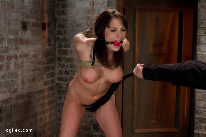 Photo number 9 from Girl next door is overwhelmed from the orgasms we rip from her helpless body<br>Brutal rope Bondage! shot for Hogtied on Kink.com. Featuring Chanel Preston in hardcore BDSM & Fetish porn.
