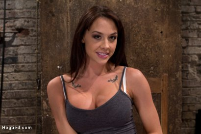 Photo number 1 from Ass hooked, caned & made to cum so much she begs for mercy<br> Humilated and abused, so helpless! shot for Hogtied on Kink.com. Featuring Chanel Preston in hardcore BDSM & Fetish porn.