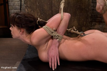 Photo number 4 from Ass hooked, face fck'd, made to cum so hard she begs for mercy We own her body we fck with her soul. shot for Hogtied on Kink.com. Featuring Chanel Preston in hardcore BDSM & Fetish porn.