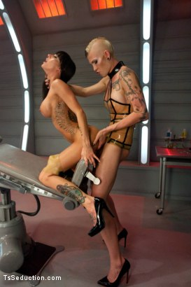 Photo number 8 from Primary Evolution 2.0: Sci-Fi Feature Update with HOT Ts/boy/girl Thre shot for TS Seduction on Kink.com. Featuring Danni Daniels, Gia DiMarco and Noah Brooks in hardcore BDSM & Fetish porn.