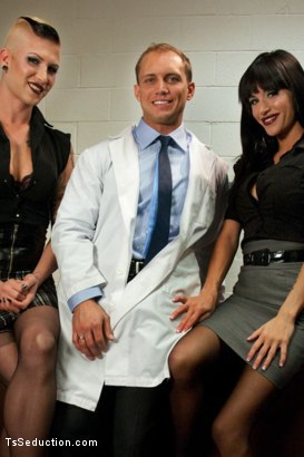 Photo number 15 from Primary Evolution: <br> The Quest for Human shot for TS Seduction on Kink.com. Featuring Danni Daniels, Gia DiMarco and John Magnum in hardcore BDSM & Fetish porn.