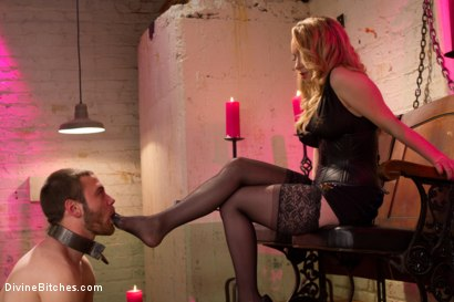 Photo number 2 from Corrupting Choirboy: Episode 1 shot for Divine Bitches on Kink.com. Featuring Aiden Starr and Jesse Carl in hardcore BDSM & Fetish porn.