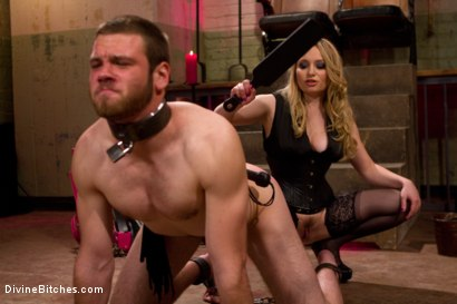 Photo number 3 from Corrupting Choirboy: Episode 1 shot for Divine Bitches on Kink.com. Featuring Aiden Starr and Jesse Carl in hardcore BDSM & Fetish porn.