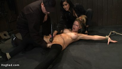 Photo number 2 from ORGASMAGEDDON: Part 2/4<br>15 minutes in and massive orgasm overload, fisting, squirting, cumming. shot for Hogtied on Kink.com. Featuring Felony, Isis Love, Rain DeGrey and Princess Donna Dolore in hardcore BDSM & Fetish porn.