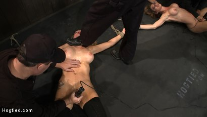 Photo number 4 from ORGASMAGEDDON: Part 2/4<br>15 minutes in and massive orgasm overload, fisting, squirting, cumming. shot for Hogtied on Kink.com. Featuring Felony, Isis Love, Rain DeGrey and Princess Donna Dolore in hardcore BDSM & Fetish porn.