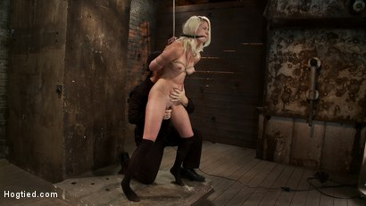 Photo number 11 from Local amateur girl in her first hardcore bondage shoot  Reverse Prayer, flogged her perfect ass. shot for hogtied on Kink.com. Featuring Natasha Lyn in hardcore BDSM & Fetish porn.
