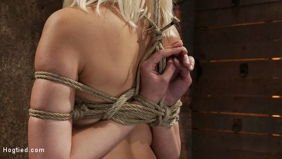 Photo number 3 from Local amateur girl in her first hardcore bondage shoot  Reverse Prayer, flogged her perfect ass. shot for hogtied on Kink.com. Featuring Natasha Lyn in hardcore BDSM & Fetish porn.