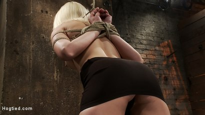 Photo number 4 from Local amateur girl in her first hardcore bondage shoot<br>Reverse Prayer, flogged her perfect ass. shot for Hogtied on Kink.com. Featuring Natasha Lyn in hardcore BDSM & Fetish porn.