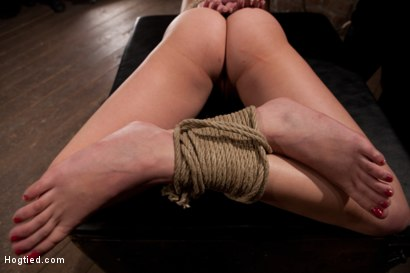 Photo number 4 from Sexy Blond with amazing hard fit body, suffers Category 5 Suspension   First hardcore bondage shoot shot for Hogtied on Kink.com. Featuring Natasha Lyn in hardcore BDSM & Fetish porn.