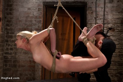 Photo number 9 from Sexy Blond with amazing hard fit body, suffers Category 5 Suspension   First hardcore bondage shoot shot for Hogtied on Kink.com. Featuring Natasha Lyn in hardcore BDSM & Fetish porn.