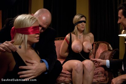 Photo number 6 from Wife Swap shot for Sex And Submission on Kink.com. Featuring Sara Jay, Mark Davis, Kait Snow and Steve Holmes in hardcore BDSM & Fetish porn.