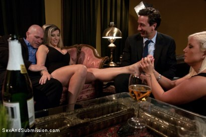 Photo number 1 from Wife Swap shot for Sex And Submission on Kink.com. Featuring Sara Jay, Mark Davis, Kait Snow and Steve Holmes in hardcore BDSM & Fetish porn.