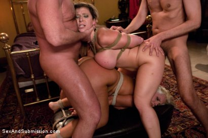 Photo number 11 from Wife Swap shot for Sex And Submission on Kink.com. Featuring Sara Jay, Mark Davis, Kait Snow and Steve Holmes in hardcore BDSM & Fetish porn.