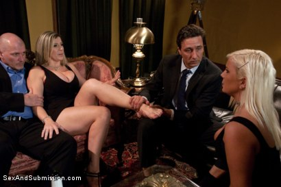 Photo number 2 from Wife Swap shot for Sex And Submission on Kink.com. Featuring Sara Jay, Mark Davis, Kait Snow and Steve Holmes in hardcore BDSM & Fetish porn.