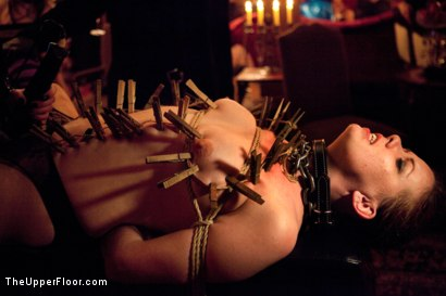 Photo number 16 from Mardi Gras Party shot for The Upper Floor on Kink.com. Featuring Jessie Cox, Lilla Katt, Nicki Blue, Sophie Monroe and Bella Rossi in hardcore BDSM & Fetish porn.