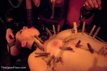 Photo number 9 from Mardi Gras Party shot for The Upper Floor on Kink.com. Featuring Jessie Cox, Lilla Katt, Nicki Blue, Sophie Monroe and Bella Rossi in hardcore BDSM & Fetish porn.