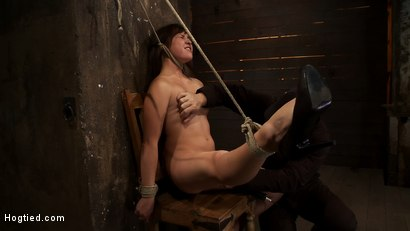 Photo number 11 from 18yr old is bound to the chair<br>Neck rope limits her breathing, this makes her cum hard and often. shot for Hogtied on Kink.com. Featuring Kiki Koi in hardcore BDSM & Fetish porn.