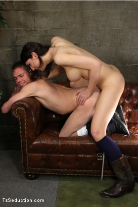Photo number 9 from Transexual Cum Swapping, Ass Swapping shot for TS Seduction on Kink.com. Featuring Dina Swift and John Jammen in hardcore BDSM & Fetish porn.