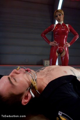 Photo number 1 from Attack of the Ts Clones: Cop taken to a Sci-fi lab and fucked by Ts COCK shot for TS Seduction on Kink.com. Featuring Jessica Host and Hayden Russo in hardcore BDSM & Fetish porn.