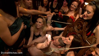 Photo number 8 from 40 women gangbang slaveboy for Bobbi Starr's birthday LIVE and PUBLIC! shot for Divine Bitches on Kink.com. Featuring Bobbi Starr, Aiden Starr, Jesse Carl, Maitresse Madeline Marlowe , Zak Tyler, Kimberly Kane and DJ in hardcore BDSM & Fetish porn.