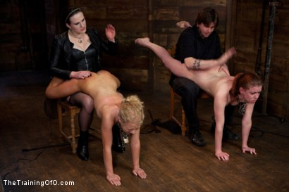 Photo number 1 from Day 5 kitten and taters<br>Heavy Impact and Incredible Orgasms shot for The Training Of O on Kink.com. Featuring Lilla Katt, Nicki Blue and Sophie Monroe in hardcore BDSM & Fetish porn.