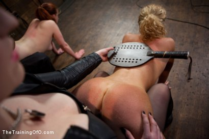 Photo number 2 from Day 5 kitten and taters<br>Heavy Impact and Incredible Orgasms shot for The Training Of O on Kink.com. Featuring Lilla Katt, Nicki Blue and Sophie Monroe in hardcore BDSM & Fetish porn.