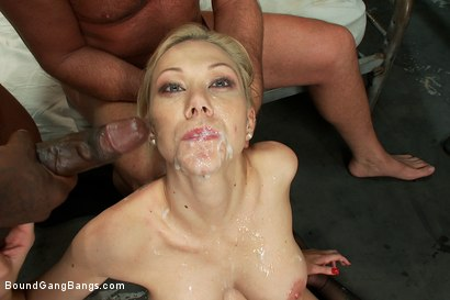 Photo number 13 from Sexy Blonde Prison Warden with Big Tits gets Gangbanged by Horny Inmates shot for Bound Gang Bangs on Kink.com. Featuring Samantha Sin in hardcore BDSM & Fetish porn.