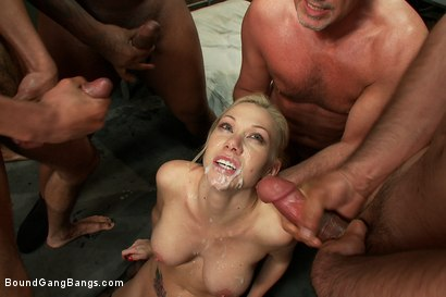 Photo number 12 from Sexy Blonde Prison Warden with Big Tits gets Gangbanged by Horny Inmates shot for Bound Gang Bangs on Kink.com. Featuring Samantha Sin in hardcore BDSM & Fetish porn.