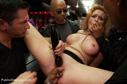 Photo number 7 from In Over Her Head: Agressive Public Sex  shot for Public Disgrace on Kink.com. Featuring John Strong and Krissy Lynn in hardcore BDSM & Fetish porn.
