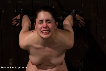 Photo number 5 from The Harder the Bondage the Harder they Cum: Innocent Brunette Demolished shot for Device Bondage on Kink.com. Featuring Lori Adorable in hardcore BDSM & Fetish porn.