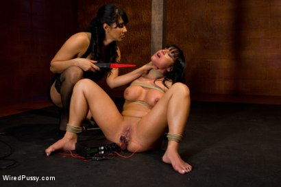 Photo number 4 from This Body was Made for Electricity shot for Wired Pussy on Kink.com. Featuring Isis Love and Mahina Zaltana in hardcore BDSM & Fetish porn.