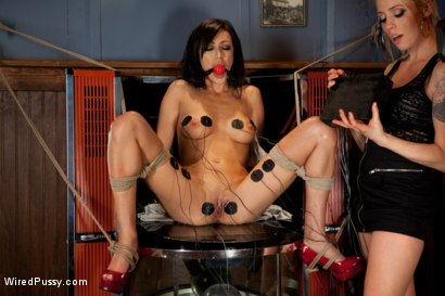 Photo number 3 from A Night of Distraction shot for Wired Pussy on Kink.com. Featuring Lorelei Lee and Breanne Benson in hardcore BDSM & Fetish porn.